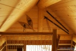 A small post and beam cabin in the woods of British Columbia. It has a 320 sq ft ground floor plus a loft. | www.facebook.com/SmallHouseBliss