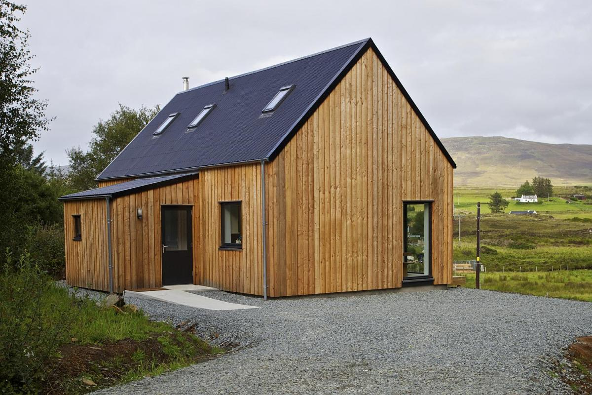R house a prefab home for rural scotland rural design for Pre built barn homes