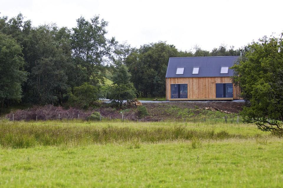 gallery r house a prefab home for rural scotland rural