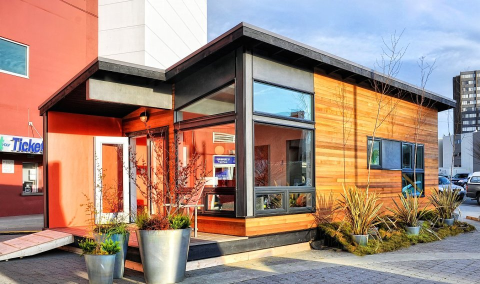 Studio37, a modern prefab cottage designed to be wheelchair accessible. It has one bedroom in 400 sq ft. | www.facebook.com/SmallHouseBliss