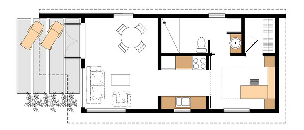 Gallery studio37 a modern prefab cottage small modern for Adu plans for sale