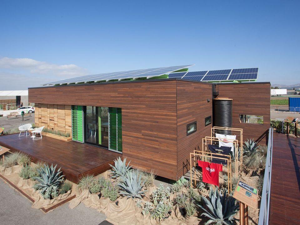 Harvest House, a 760 sq ft 1 bedroom wheelchair friendly house entered in Solar Decathlon 2013 | www.facebook.com/SmallHouseBliss