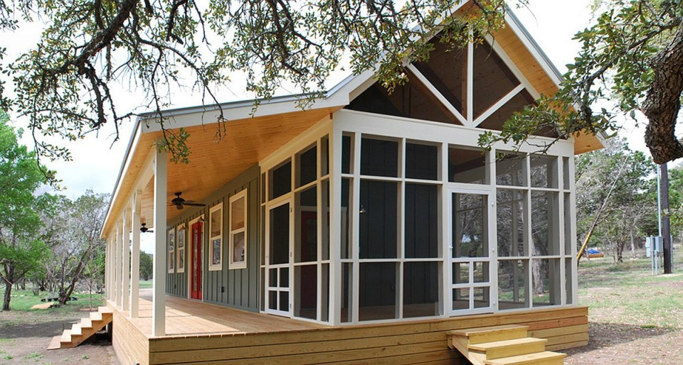 Gallery texas hill country cottage by kanga room systems for Texas hill country cabin builders