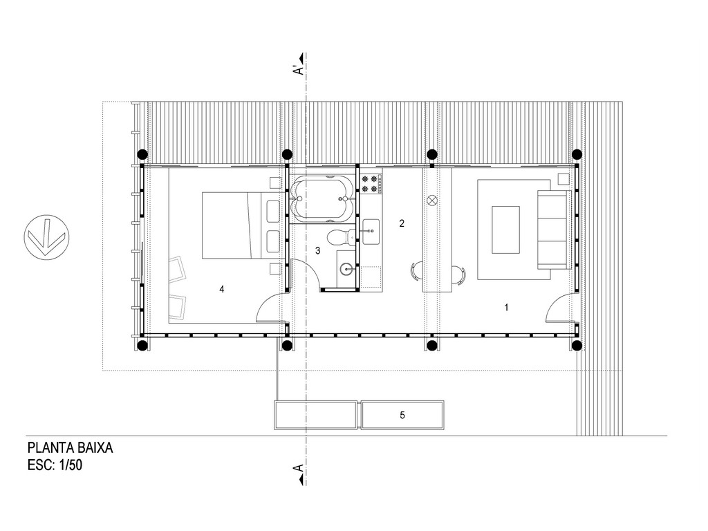 Gallery eucalyptus house cabana arquitetos small for Cabana design plans
