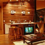 A small wooden house in the mountains of southeastern Brazil with 1 bedroom in 538 sq ft | www.facebook.com/SmallHouseBliss