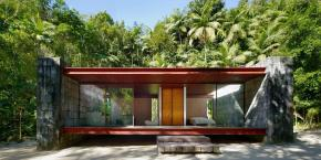 Casa Rio Bonito, a modern cabin in the Brazilian rainforest, has 1 bedroom in 753 sq ft | www.facebook.com/SmallHouseBliss