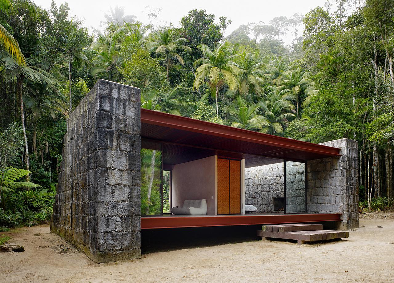 Gallery casa rio bonito a modern cabin in the brazilian for Small glass house plans