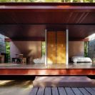 Casa Rio Bonito, a modern cabin in the Brazilian rainforest, has 1 bedroom in 753 sq ft | www.facebook.com/SmallHouseBliss