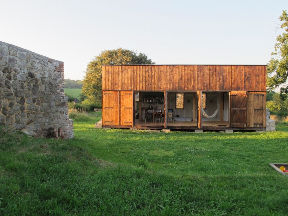 This simple rustic retreat in the Czech countryside was built inexpensively from recycled materials. | www.facebook.com/SmallHouseBliss