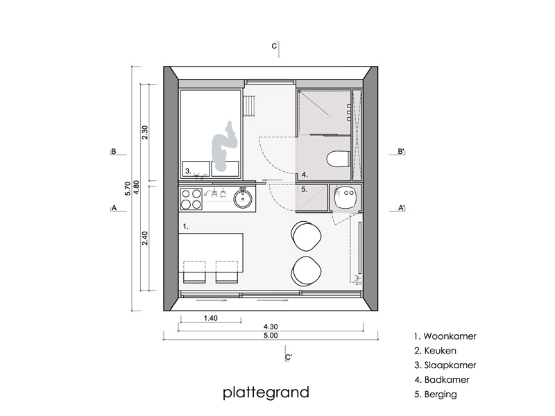 The Aida, a prefab vacation home with 226 sq ft of floor space. | www.facebook.com/SmallHouseBliss