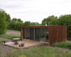 The Arado weeHouse, a modern prefab cabin with 336 sq ft, was the original weeHouse by Alchemy Architects | www.facebook.com/SmallHouseBliss