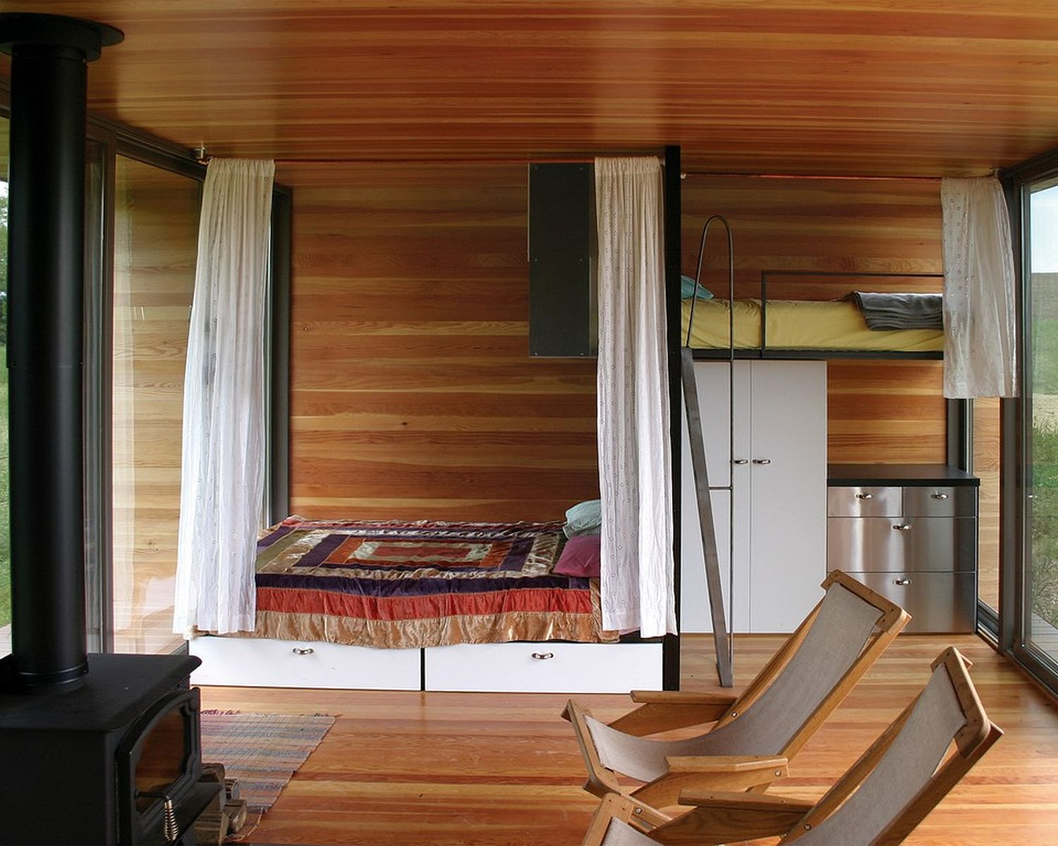 Gallery the arado weehouse a modern prefab cabin alchemy architects small house bliss - Interior for small house ...