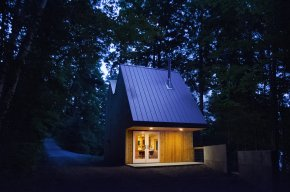 The Polygon Studio, a 409 sq ft sculpture studio with a loft for guests. | www.facebook.com/SmallHouseBliss