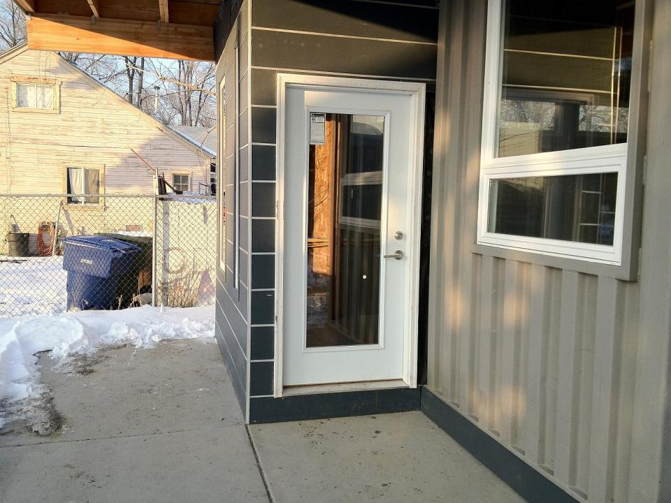Sarah House, an affordable green container home with 1 bedroom in 672 sq ft.   www.facebook.com/SmallHouseBliss