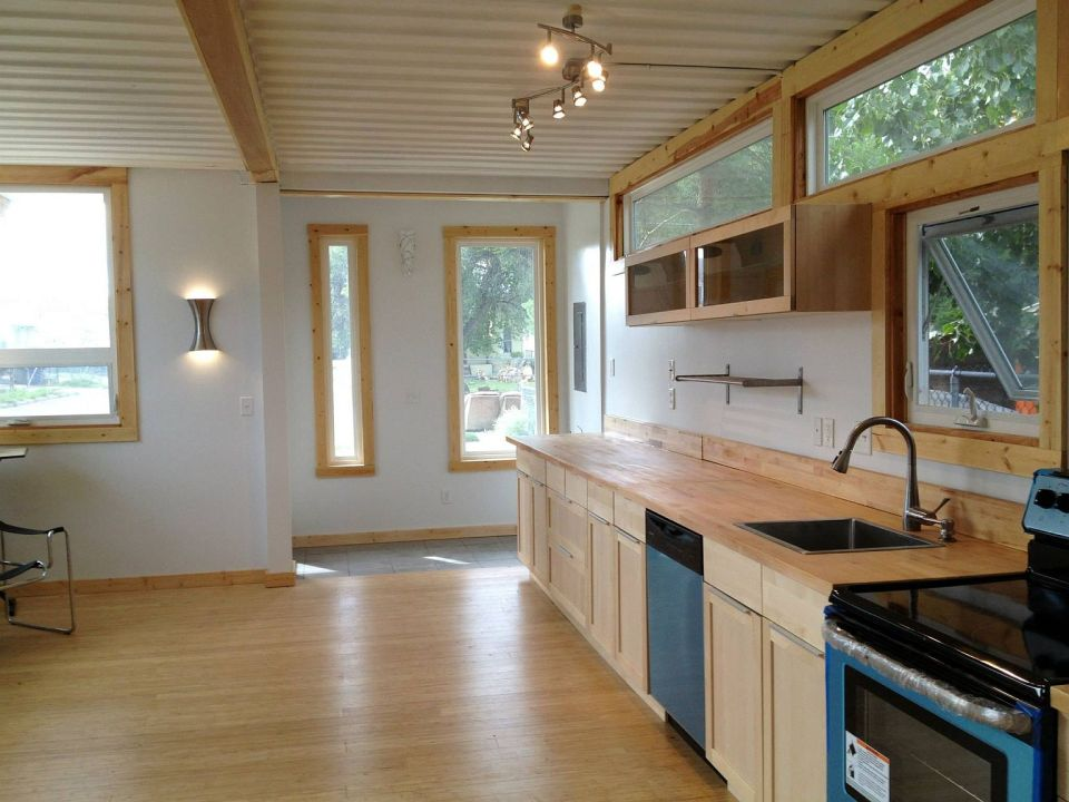 Gallery sarah house an affordable green container home Building a house in utah