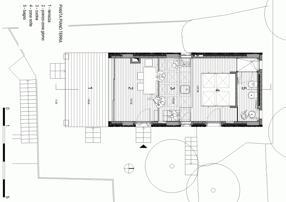 Gallery tre livelli a studio dwelling with a stepped for Stepped house plans