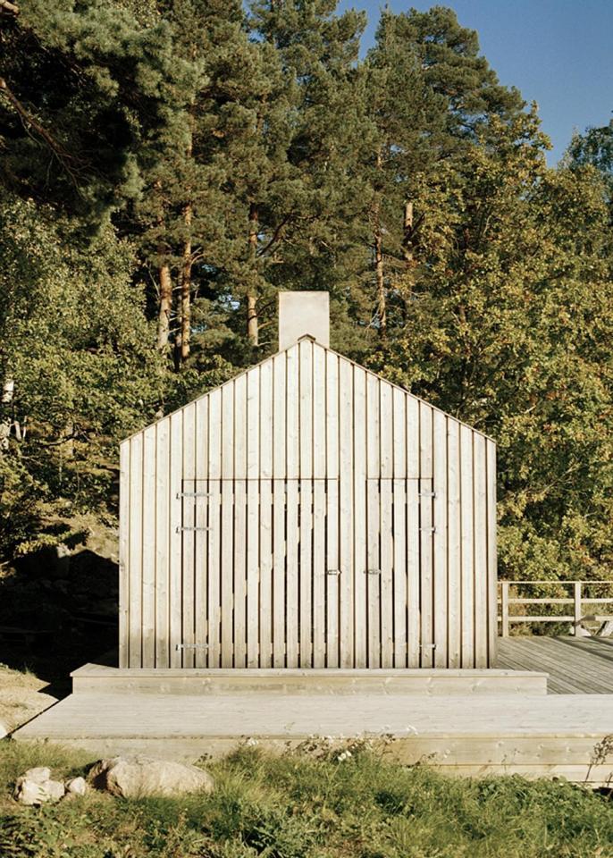 A Swedish sauna building that would be a terrific little cabin.   www.facebook.com/SmallHouseBliss