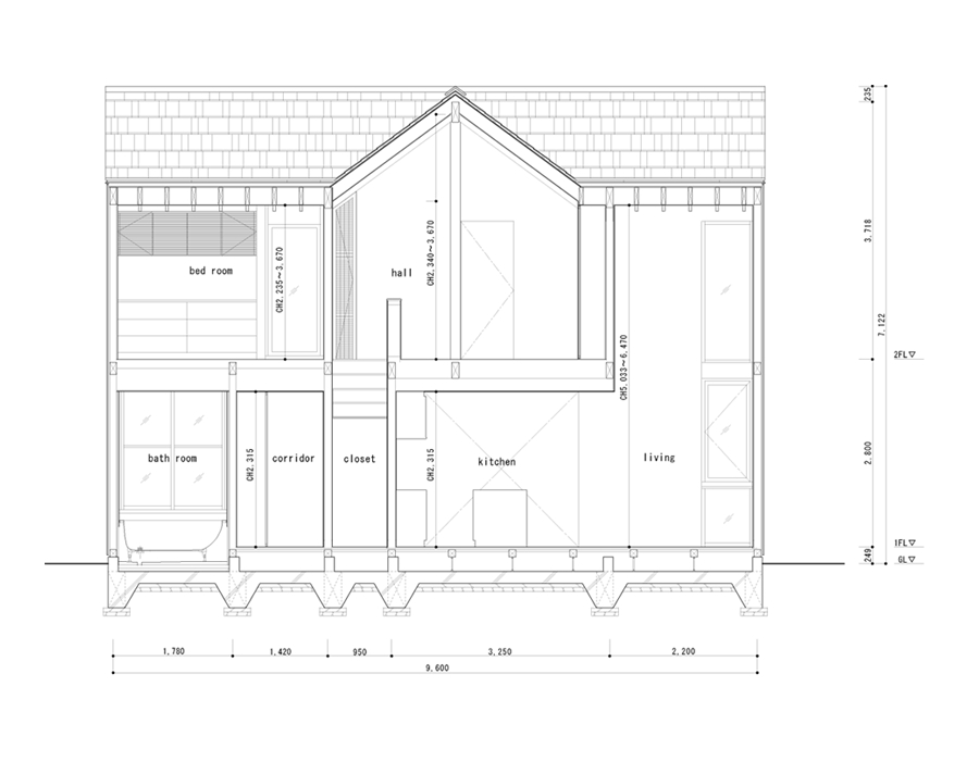 This wood family house has 4 bedrooms in a 1,359 sq ft cross-shaped floor plan.   www.facebook.com/SmallHouseBliss
