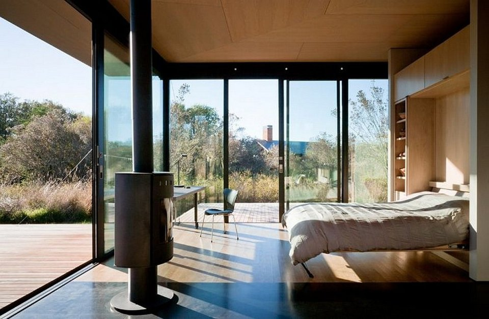 False bay writer s cabin olson kundig architects small for Writers retreat cabin