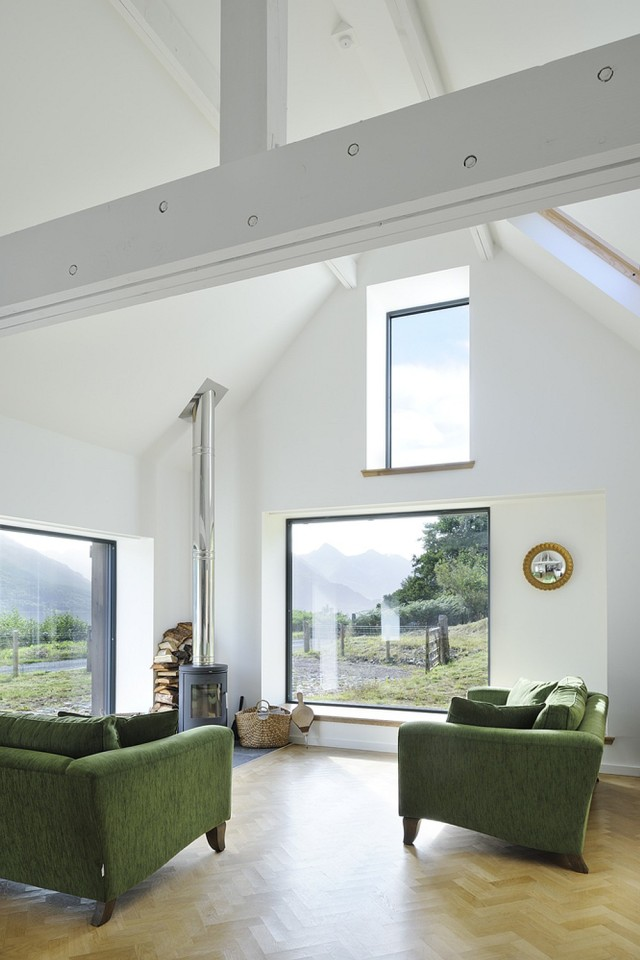 An old stone horse barn in Scotland was converted into this small house with 1 bedroom and a large loft in 1,291 sq ft.   www.facebook.com/SmallHouseBliss