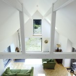 An old stone horse barn in Scotland was converted into this small house with 1 bedroom and a large loft in 1,291 sq ft. | www.facebook.com/SmallHouseBliss