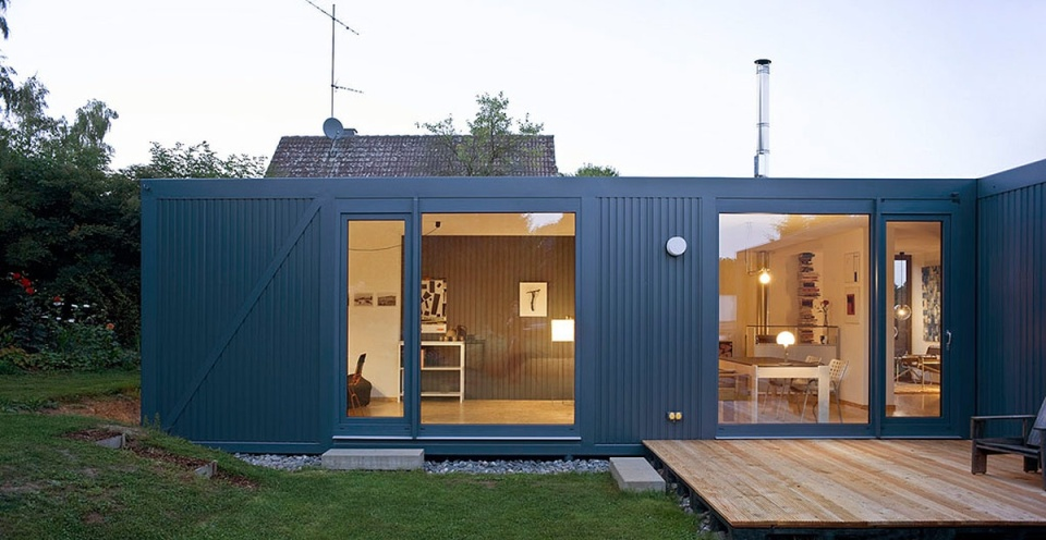 containerlove a small house built from modules designed to resemble shipping containers it has - Tiny House Modern 2