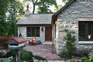 Fox Hollow, a new cottage built from antique materials. Designed by Murphy & Co. Design, it has 1 bedroom in 860 sq ft.   www.facebook.com/SmallHouseBliss