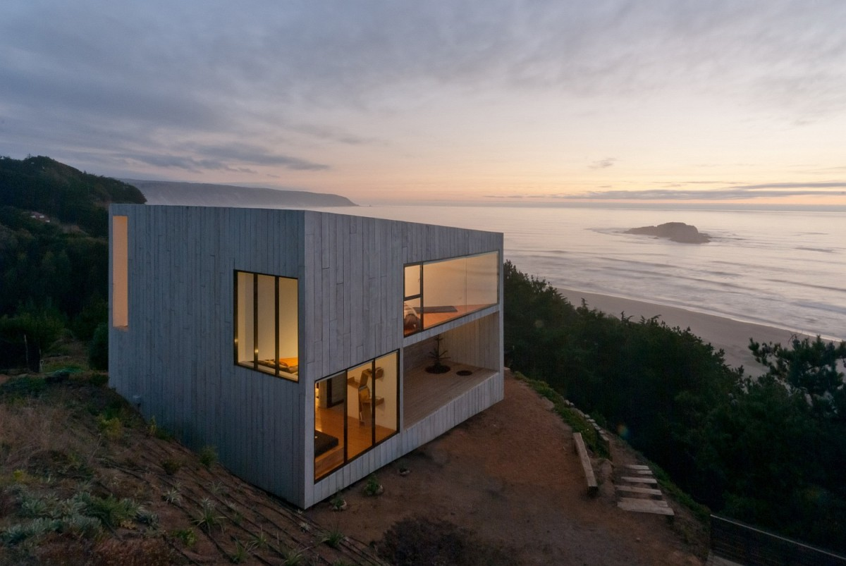 a minimalist vacation house in chile panorama and wmr small house bliss. Black Bedroom Furniture Sets. Home Design Ideas