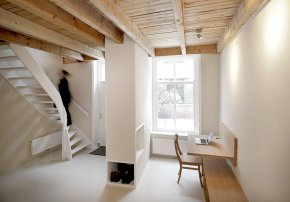 A 17th century townhouse in the Netherlands renovated to create a more open and functional layout, with 1 bedroom in 807 sq ft. | www.facebook.com/SmallHouseBliss