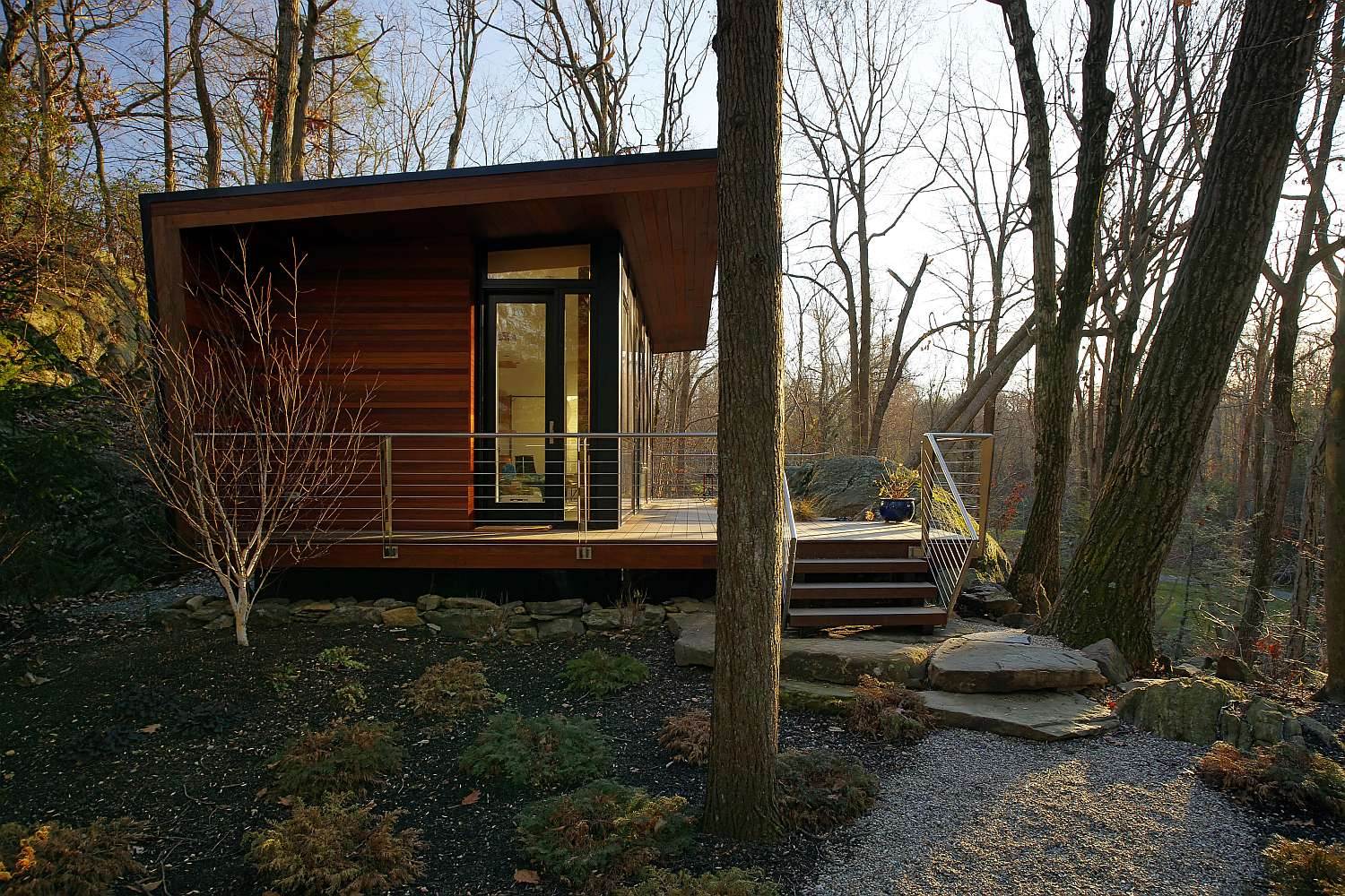 gallery a modern studio retreat in the woods workshop