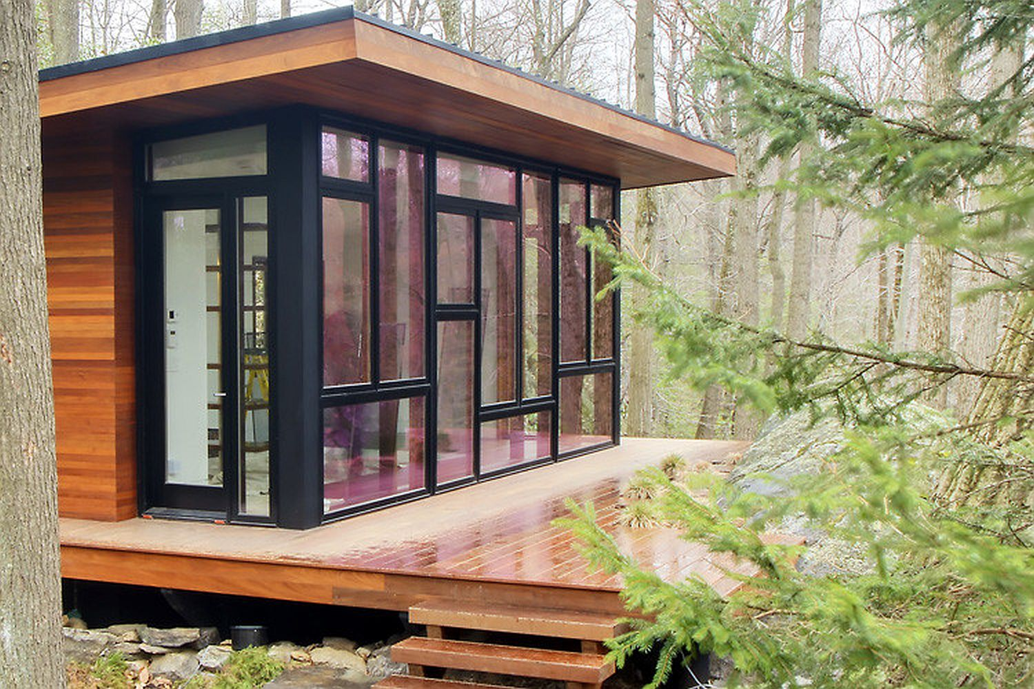A modern studio retreat in the woods workshop apd for The new small house