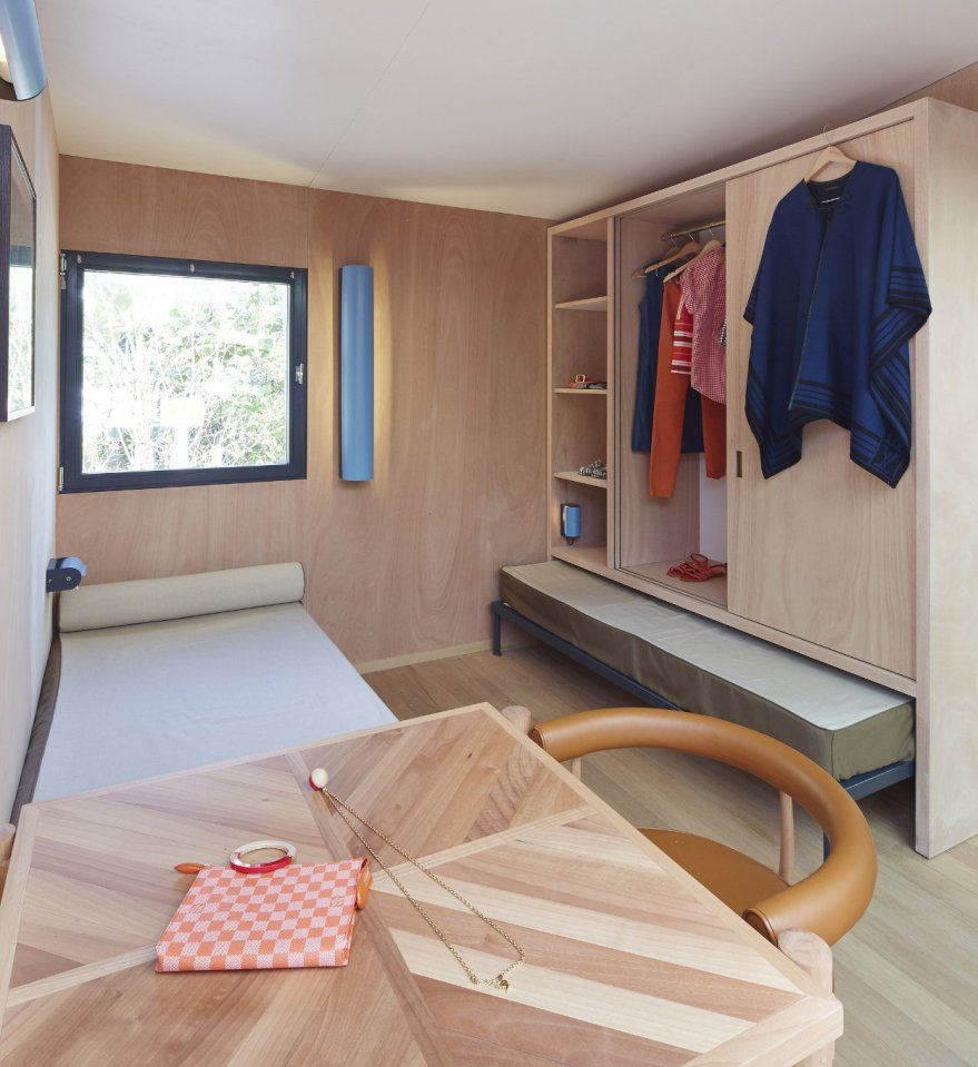 A low-cost vacation home designed in 1934 by architect Charlotte Perriand was built 80 years later by Louis Vuitton.   www.facebook.com/SmallHouseBliss