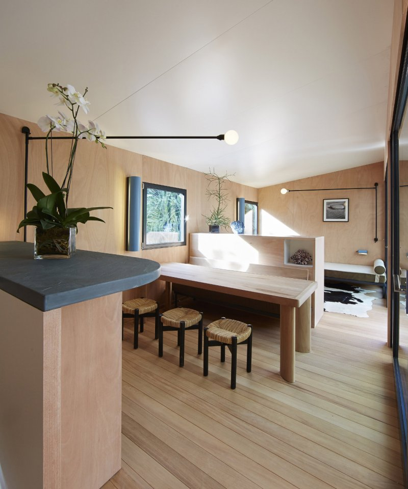A low-cost vacation home designed in 1934 by architect Charlotte Perriand was built 80 years later by Louis Vuitton. | www.facebook.com/SmallHouseBliss
