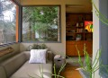 This ~220 sq ft backyard studio serves as a writing studio and a quiet family retreat. | www.facebook.com/SmallHouseBliss