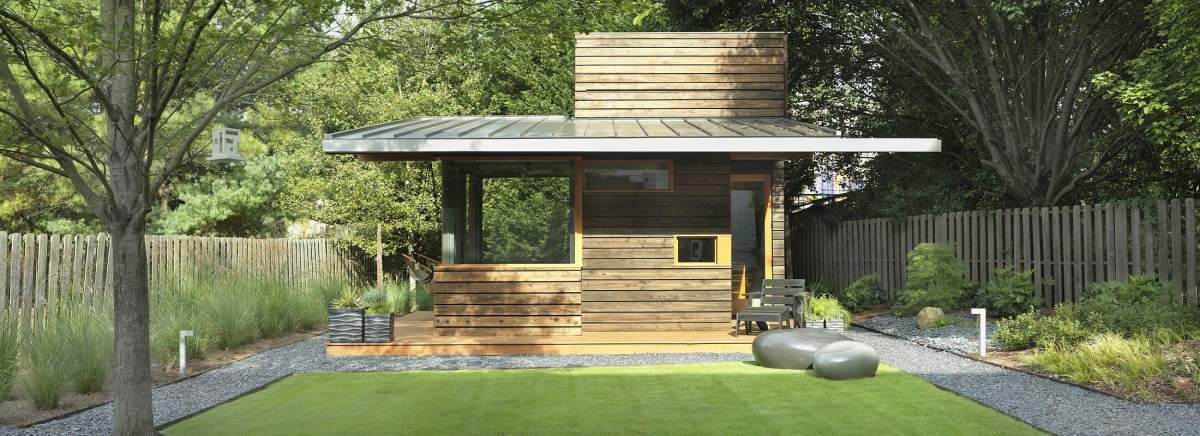 A backyard writing studio dencity design small house bliss for Landscape design studio
