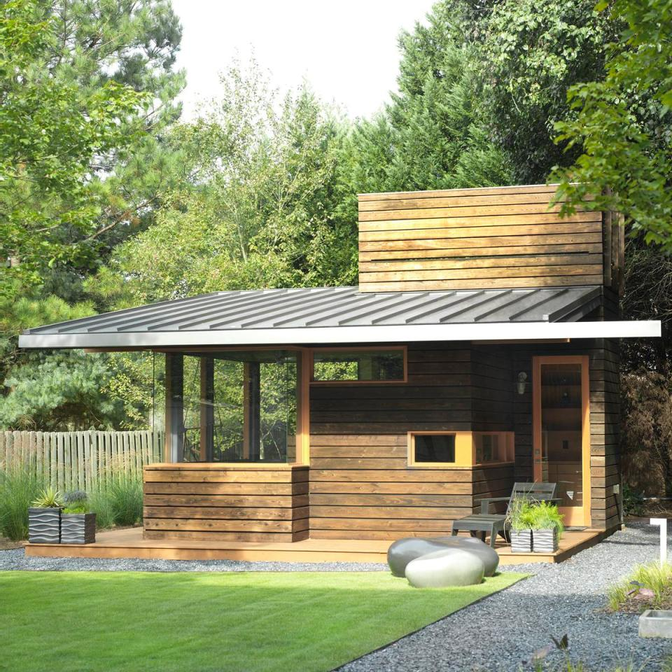 A Backyard Writing Studio Dencity Design Small House Bliss: small shed roof house plans