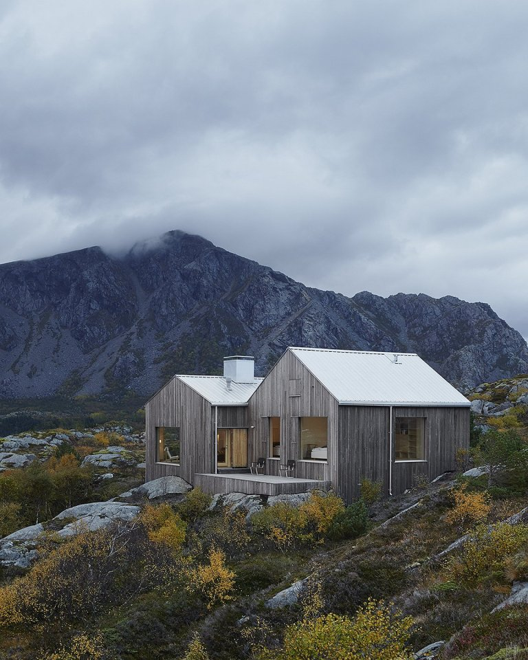 This family vacation cottage on a remote Norwegian island was modeled on traditional boat sheds. It has 3 bedrooms in 1,507 sq ft. | www.facebook.com/SmallHouseBliss
