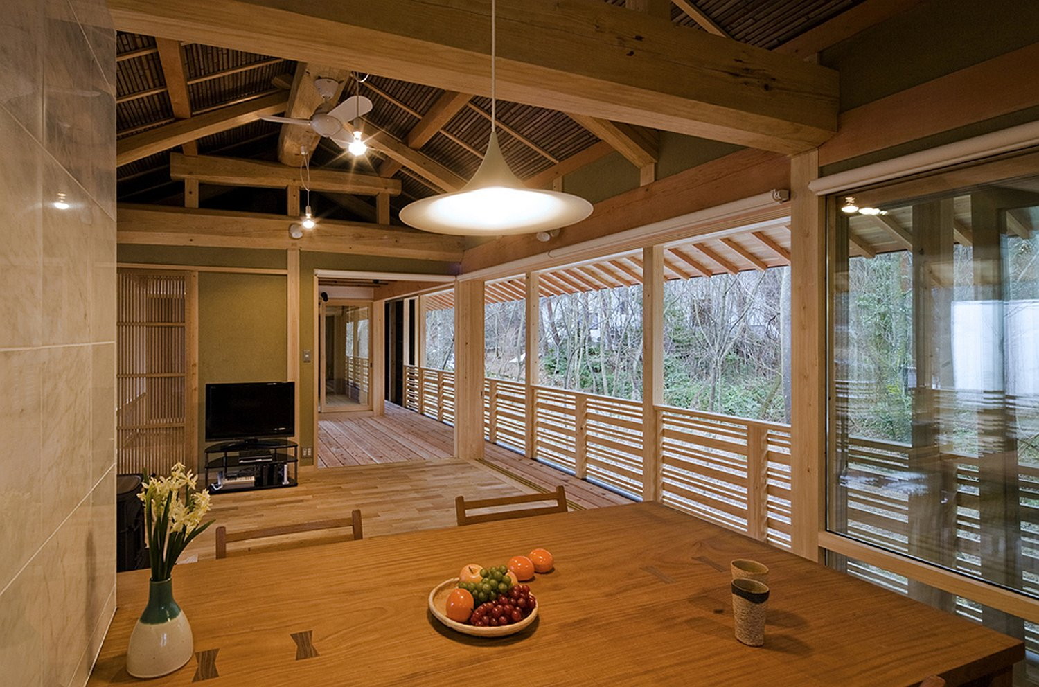 A new home built in traditional Japanese style Osumi Yuso