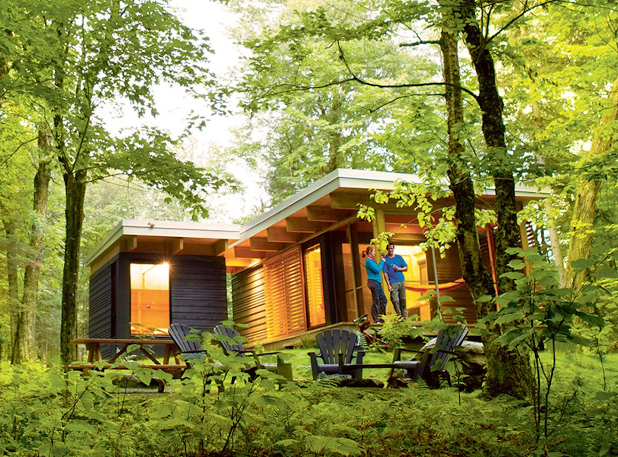 ^ Gallery: halet P, a tiny modern cabin for Quebec's wilderness ...