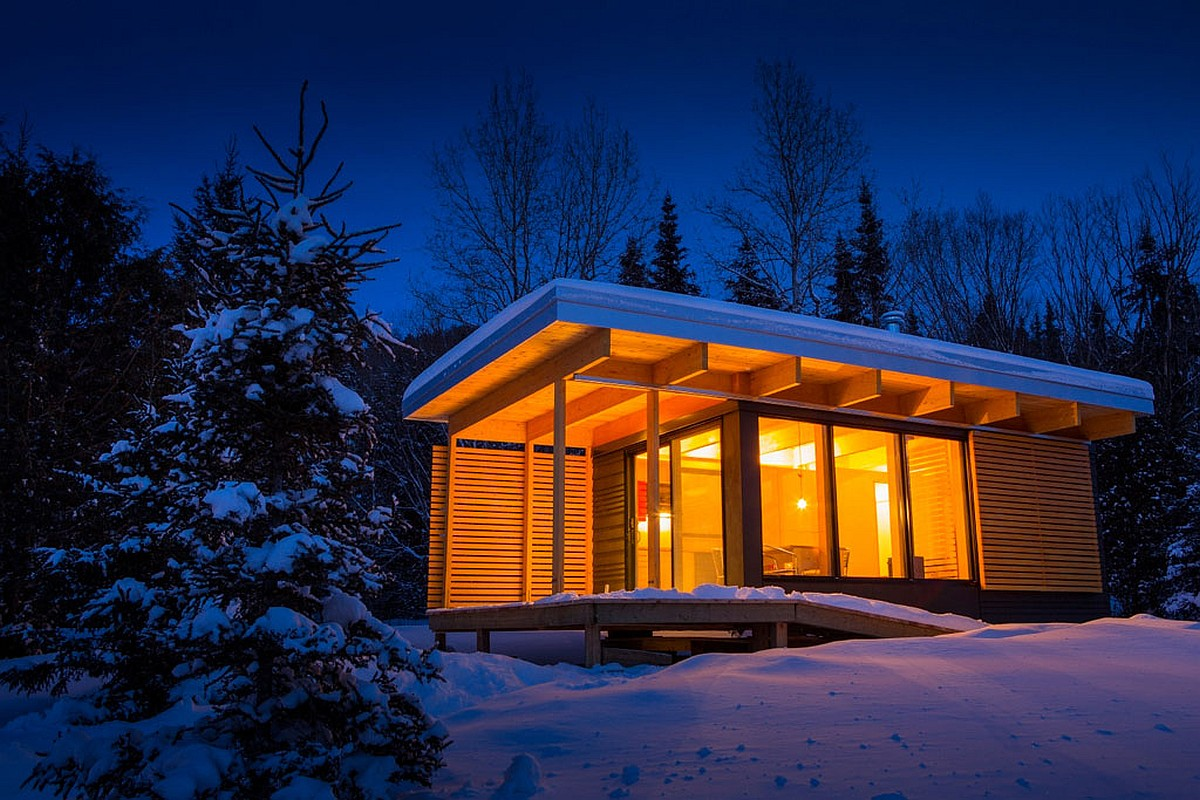 chalet exp a tiny modern cabin for quebec s wilderness parks rh smallhousebliss com