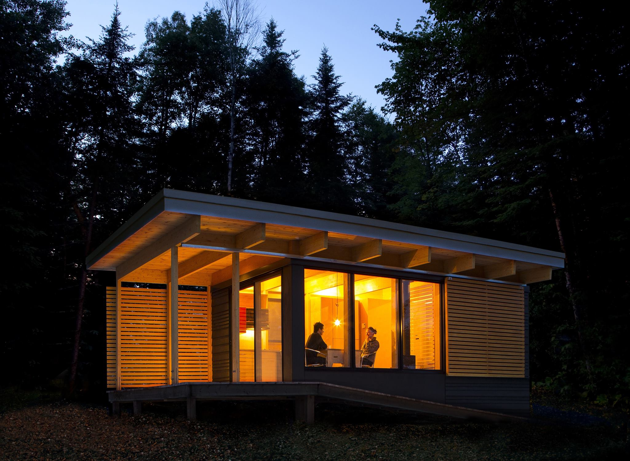 Gallery Chalet Exp A Tiny Modern Cabin For Quebec S