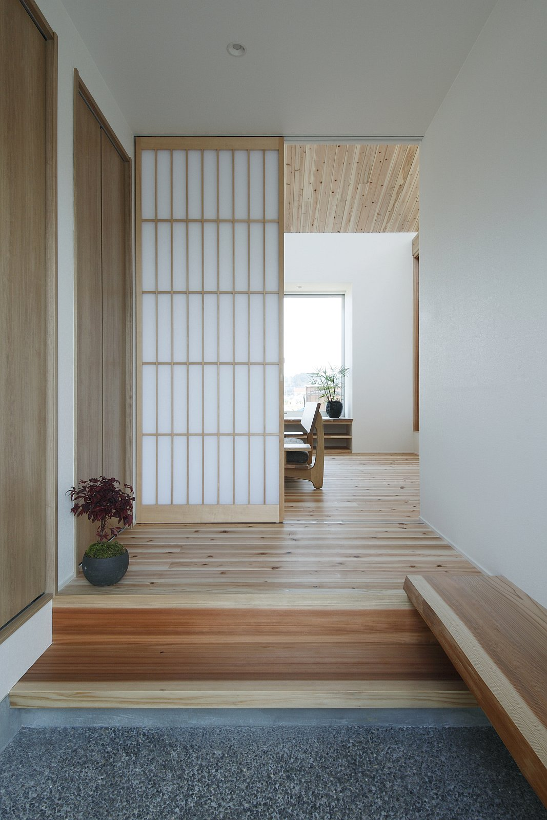 Gallery a modest light filled home in rural japan alts for Small office entrance design