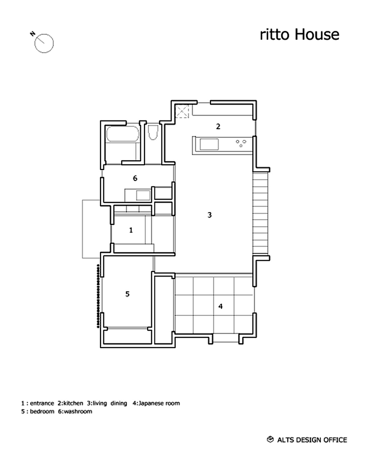 Gallery a modest light filled home in rural japan alts for Small office floor plan