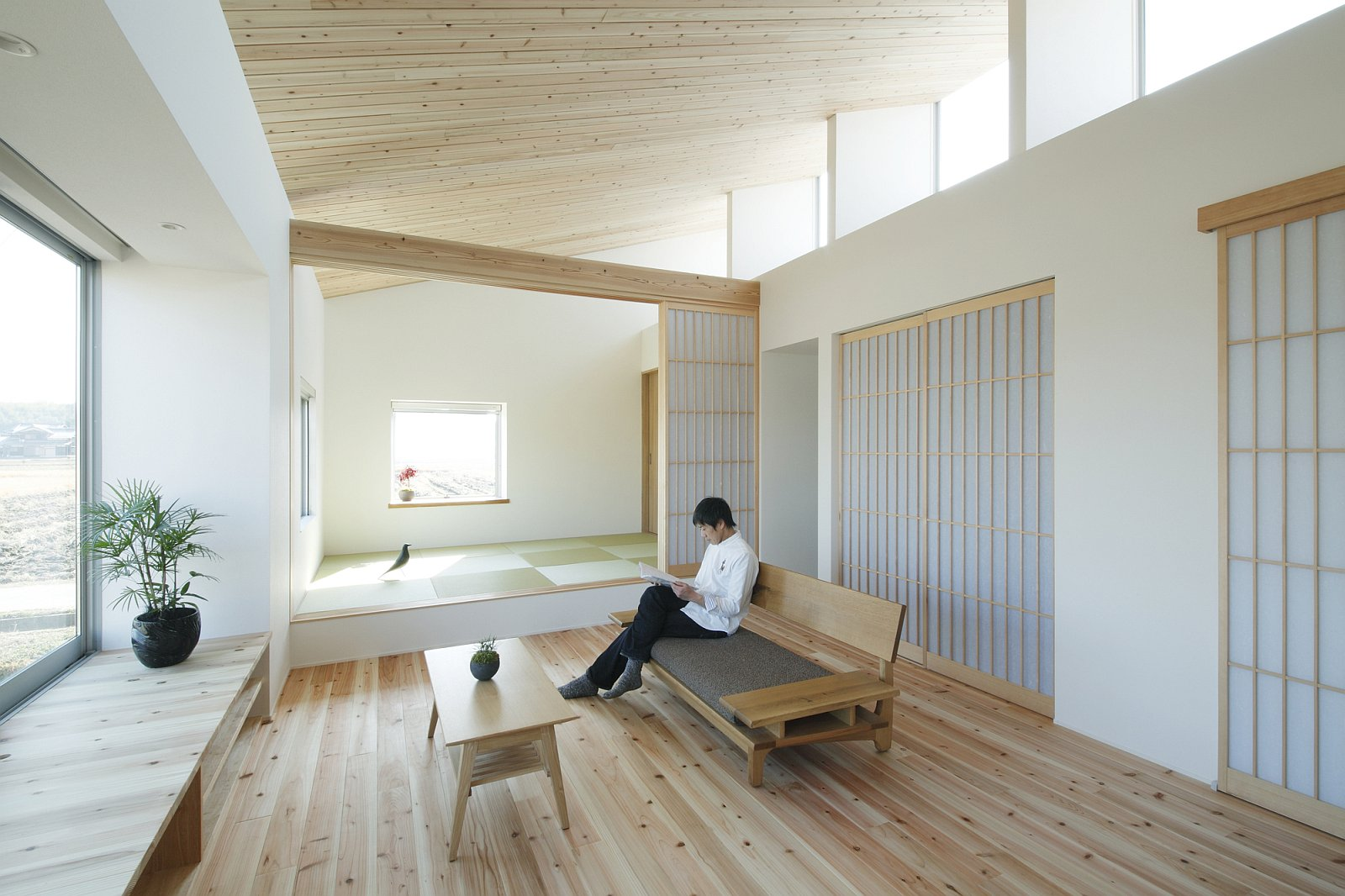 Japanese Office Design Gallery A Modest Light Filled Home In Rural Japan Alts Design