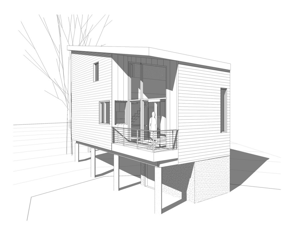 This compact and affordable home has 1 bedroom and a loft in 950 sq ft.   www.facebook.com/SmallHouseBliss