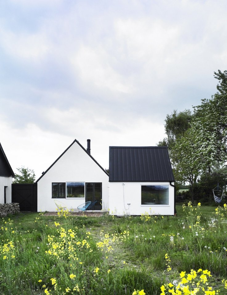 An abandoned farmhouse in Sweden became a family's summerhouse with 3 bedrooms plus a loft in 1,130 sq ft.   www.facebook.com/SmallHouseBliss