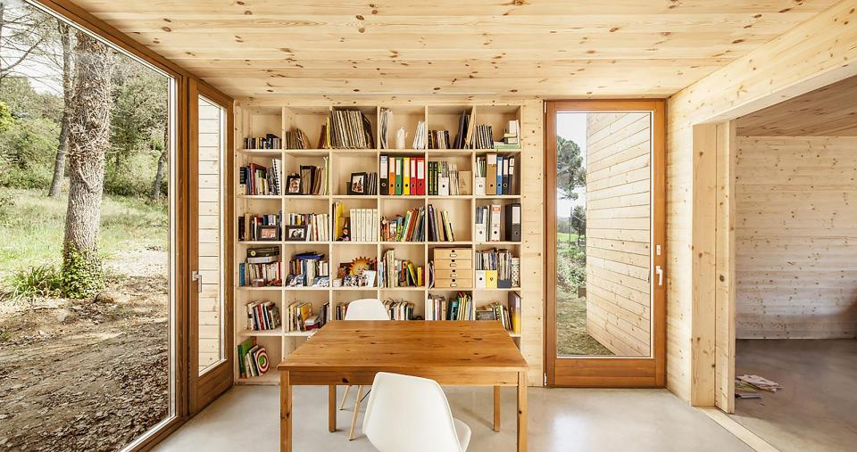 A passive house in Spain composed of six prefabricated wood boxes. It has 3 bedrooms in 1,195 sq ft. | www.facebook.com/SmallHouseBliss