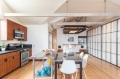 """Mad Men actor Vincent Kartheiser's Hollywood pad with a """"Japanese industrial"""" aesthetic. The 603 sq ft studio features a bed that drops from the ceiling.   www.facebook.com/SmallHouseBliss"""