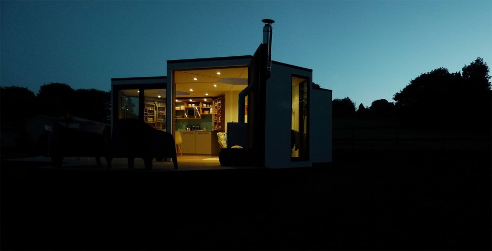 The Hivehaus is a modular dwelling designed to expand as needed. The hexagonal modules are joined to create a custom honeycomb floor plan. View all 14 photos at https://smallhousebliss.com/2014/08/21/hivehaus/.