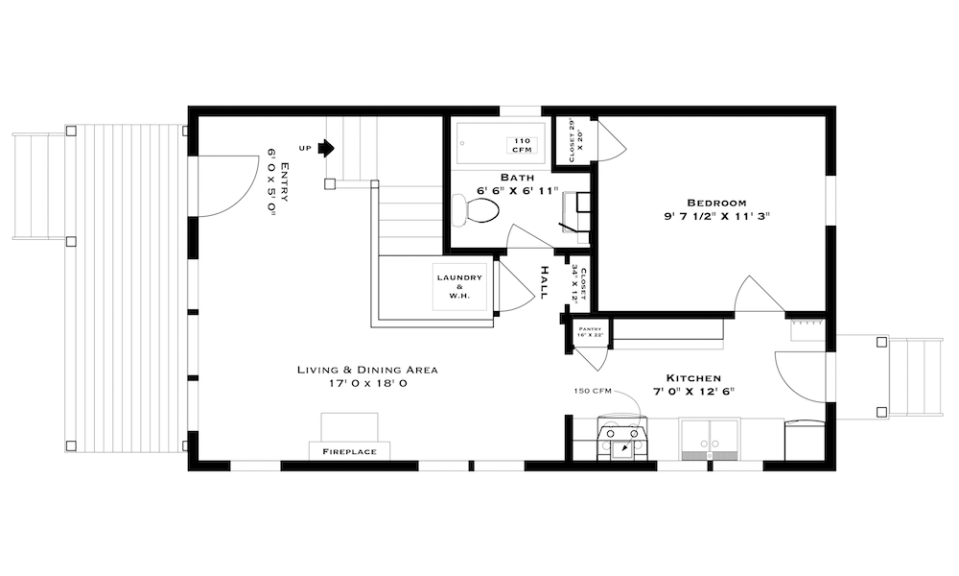 2 Bedroom Bungalow Floor Plans: Gallery: The Beekeeper's Bungalow